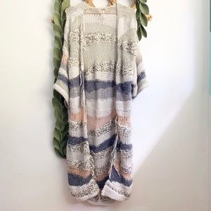 🌸Free People Duster Style Cardigan EUC Size L🌸